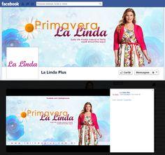 #capa e #feed #facebook #anuncio da #primavera no La Linda Plus Size.