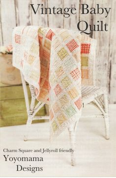 """Charm Square or Jelly Roll friendly patternPieced and quilted all at once!Quilt size 40"""" x 40"""""""