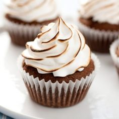 Brownie Cupcakes with Marshmallow Frosting - their name says it all.