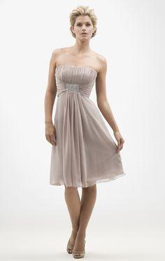 handmade beaded chiffon grey bridesmaid dresses