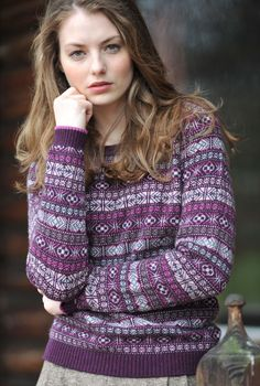 Fair Isle Jumper from Brora design house, however, this pattern and colourways so inspiring.