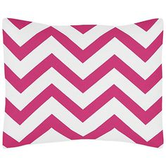 Sweet Jojo Designs Chevron Standard Pillow Sham in Pink and White - BedBathandBeyond.com $19.99