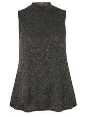 Black Shimmer Sleeveless Top