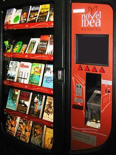 Novel Idea book dispenser at Heathrow Airport