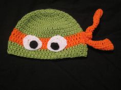 Ninja Turtle Beanie Hat for Kids Order on Etsy Free Shipping Choose Color of Band
