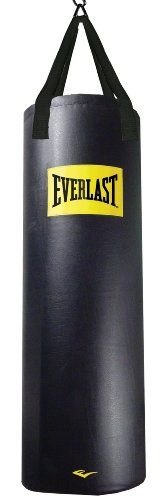 Everlast 100 lb Vintage Heavy Bag Kit Premium Synthetic Leather Heavy-Duty Strap