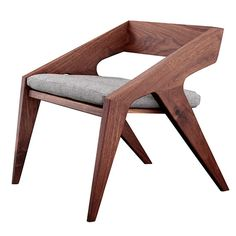 Hank From Jory Brigham Design Contemporary, Wood, Armchairs Club Chair by Wanted Design