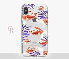 Koi Fish Clear Phone Case  Clear Case  For iPhone 8  iPhone