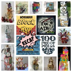 Artist Trading Blocks with 100 Proof Press Stamps Recap | The Artists on the Block