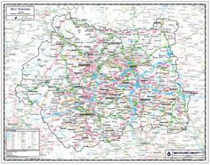 West Yorkshire County Wall Map West Yorkshire is a county in the Yorkshire and Humberside region of England and is home to the Bronte Parsonage, Harewood House, Nostell Priory, Wetherby Castle and the National Media Museum From £19.99 #County #Map #WestYorkshire