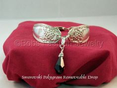 Swarovski Amethyst Drop Bracelet