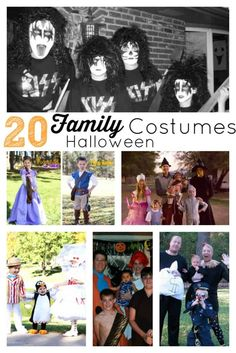 Here are 20 DIY Family Halloween Costumes. It's officially October and Halloween is right around the corner. Are you thinking about Halloween Costumes? Diy Halloween Gifts, Spooky Halloween Costumes, Halloween Decorations For Kids, Halloween Activities, Holidays Halloween, Halloween Kids, Halloween Party, Halloween Sewing, Halloween Goodies