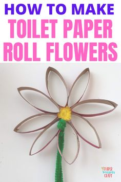 How to make toilet paper roll flowers that bounce, super easy and cute for kids to make, you can even stick them in the ground and watch them bounce, fun toilet paper flowers for kids, kids crafts, toddler crafts, crafts for kids, cheap crafts for kids, easy crafts for kids, preschool crafts, diy crafts, flower crafts Toilet Paper Flowers, Paper Flowers For Kids, Toilet Paper Roll Crafts, Easy Toddler Crafts, Quick Crafts, Crafts To Do, Toddler Activities, Science Crafts, Preschool Crafts