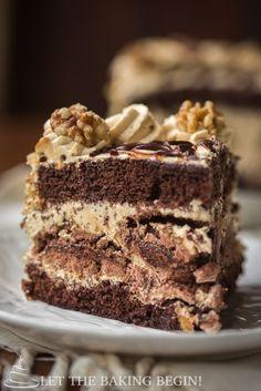 Sweet Recipes, Cake Recipes, Dessert Recipes, Kiev Cake, Just Desserts, Delicious Desserts, Choco Torta, Russian Cakes, Torte Cake