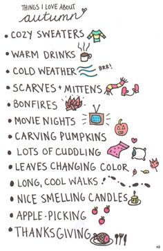 Things I love about autumn: