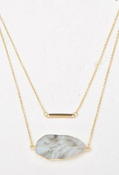 Layered Faux Geode Necklace from Forever Saved to Accessories . Shop more products from Forever 21 on Wanelo. Geode Necklace, Bar Necklace, Arrow Necklace, Necklaces, Jewelery, Forever 21, Layers, Gemstones, Gold
