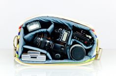 Camera bag. I want the blue one