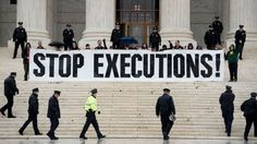 Protest at Supreme Court. End the death penalty in USA.