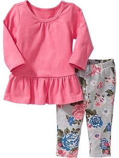 Long-Sleeved Tunic & Leggings Sets for Baby