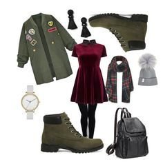 """""""Untitled #15"""" by barbora-chybova on Polyvore featuring Timberland, WithChic, Miss Selfridge, Topshop, Skagen and Dorothy Perkins"""