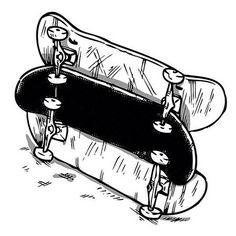 Skate decks ready for ollies #skateboard #illustration #drawing