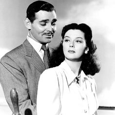 """Clark Gable & Rosalind Russell in """"They Met in Bombay"""""""