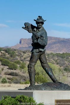 Monument honoring the Buffalo Soldiers at Fort Bayard, NM