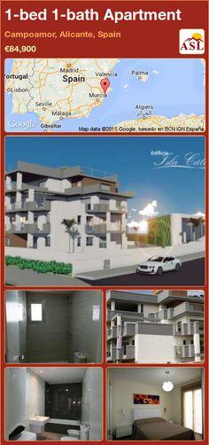 Apartment for Sale in Campoamor, Alicante, Spain with 1 bedroom, 1 bathroom - A Spanish Life Murcia, Valencia, Alicante Spain, Apartments For Sale, Terrace, Swimming Pools, Modern Design, Spanish, Bath