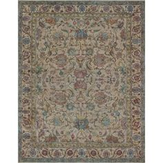 Vintage Distressed Overdyed Berke Beige/Blue Rug (9'6 x 12'7) - Free Shipping Today - Overstock.com - 24296482