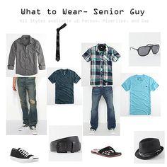 What to Wear - Senior Guys Senior Boy Photography, Clothing Photography, Male Senior Pictures, Senior Photos, Senior Session, Senior Picture Outfits, Guy Outfits, School Outfits, Teen Boy Fashion