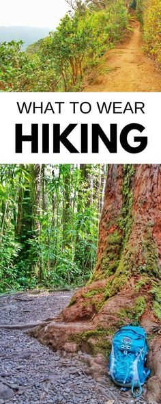Hiking tips for beginners, what to wear hiking! Gear list of clothes for day hike, backpacking. With checklist for hiking destinations for world or USA travel bucket list, what are essentials? Boots, trail running shoes, sandals? Pants, trekking poles, backpack? How to carry water? Things to pack for outdoor vacation with trails for packing list! Hiking is cheap or free, perfect budget activity of things to do at national parks or road trip! For cold weather winter and hot weather summer.