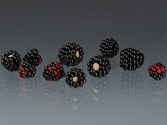 Glass Blackberry sculptures by Elizabeth Johnson.  www.elizabethjohnson.com
