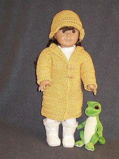 "Ravelry: American Girl 18"" dollCrocheted Coat pattern by Ase Bence"