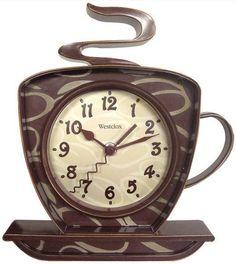 Westclox Coffee Time Kitchen Wall Clock Second Hand Quartz #Westclox
