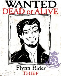 flynn rider wanted poster of tangled