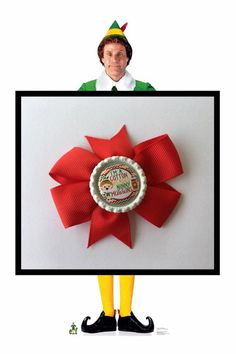 Elf Bow - I'm a cotton headed ninny muggins by binspiredbylife on Etsy