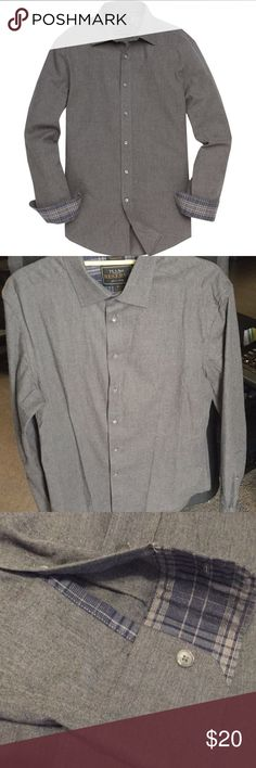 Grey Button-down Shirt (If you bundle any of my men's clothing I can apply a 10% discount for you!)   New without tags. Reserve collection tailored fit spread collar sport shirt. Super soft cotton! Shirts Dress Shirts