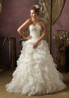 ruffled organza wedding dress 15 Wedding Dress Details You Will Fall In Love With