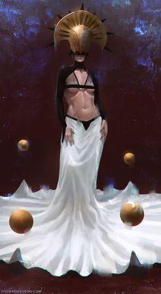 La reine Armalu dans l'une des ses nombreuses tenues