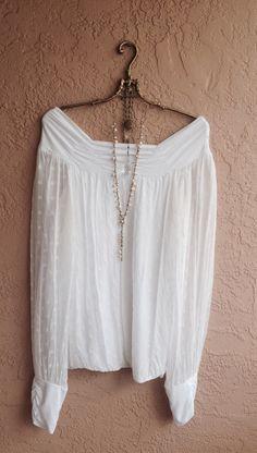 Romantic bohemian vintage Off shoulder Italian silk by BohoAngels, $120.00