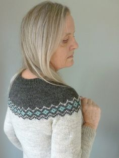 A simple stranded pullover that I've snuck in, nice and easy and quick, that's only taken a few weeks to knit and appeared as if by magic! The dark grey/black and the turquoise Finullgarn yarn wa. Dark Grey Color, Yarn Needle, Crochet Projects, Ravelry, Knit Crochet, Turquoise, Knitting, Pattern, Sweaters