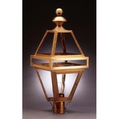 Northeast Lantern Boston 1 Light Lantern Head Finish: Raw Brass, Shade Type: Clear Seedy