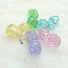 Lampwork Beads Glass Sparkle Nuggets Pair  Cute nuggets in a choice of colours, with light catching mica flakes suspended inside, perfect for earrings and other projects!  Sold per pair.  #glitteringprizeglass #lampwork #sparkle #rainbow #pastel #glitter #earringpair #jewelrydesign #jewellerydesign #crafting