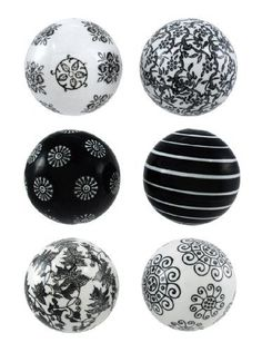 Black Decorative Balls 10X18 Black And White Decorative Pillow Simplycharmingstore