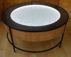 New Kinetic Sand Drawing Tables by Bruce Shapiro (Colossal) Kinetic Sand Table, Sand Drawing, Weird Furniture, Used Cnc Machines, Garden Coffee Table, Mandala, Colossal Art, Kinetic Art, Sand Art