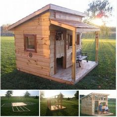 DIY Outdoor Pallet Playhouss