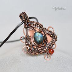 Wire wrapped jewelry with Labradorite wire jewelry by Artual