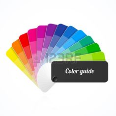 Guide palette de couleur ventilateur catalogue Banque d'images