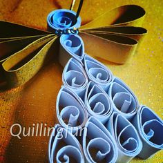 Simple quilled angel by #quillingfun #quilledangel #quilling #quilledornament