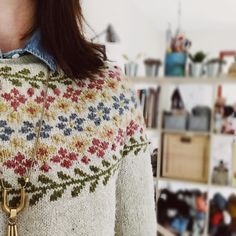Birkin was inspired by a photo I found of Jane Birkin wearing a crown of wildflowers at her wedding. I wanted to capture the light and summery vibes of that photo in a sweater so we can wear the feeling of summer year round. This pattern is now available for 20% off with the code BIRKIN in my Ravelry store, link in profile.